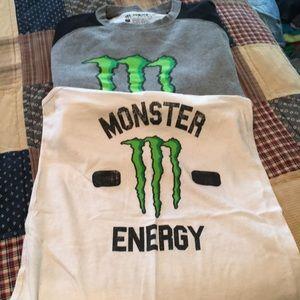 Tops - Monster energy tank and sweatshirt
